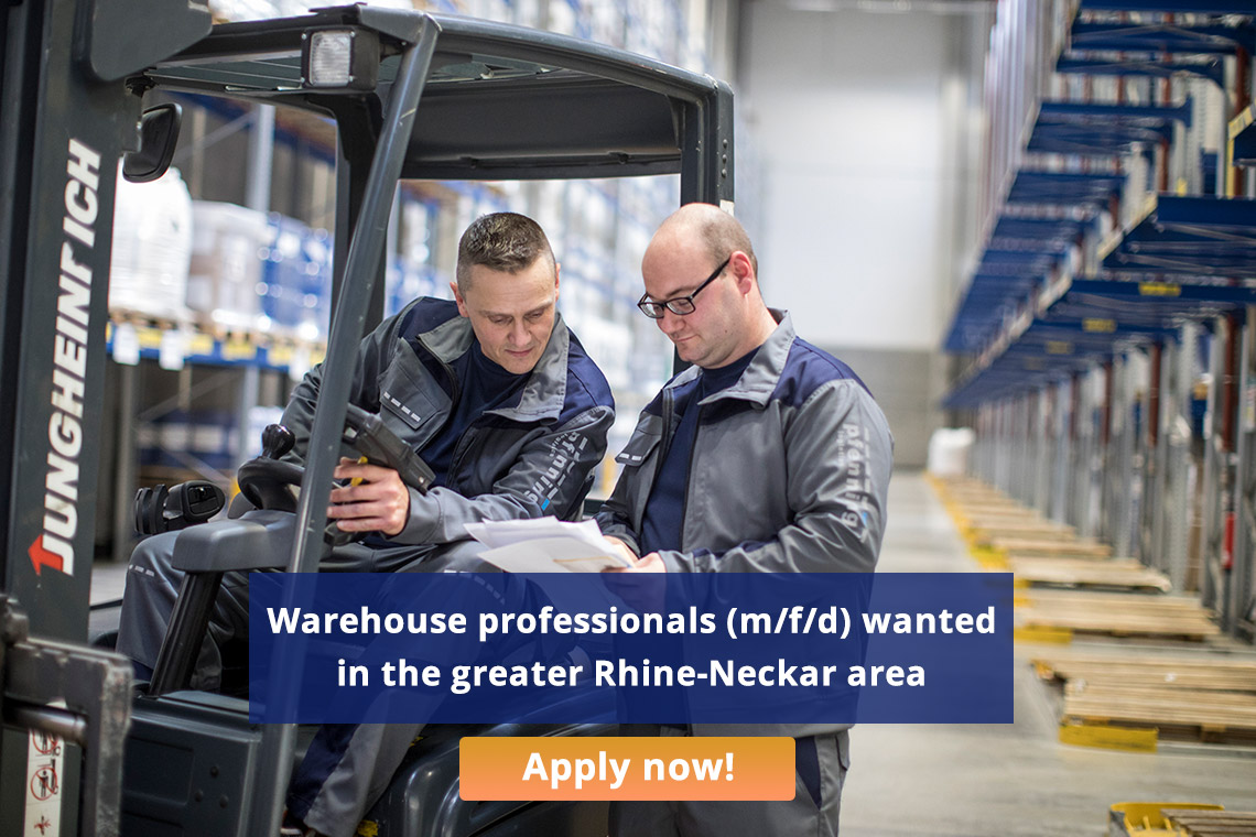 Warehouse professionals (m/f/d) wanted in the greater Rhine-Neckar area