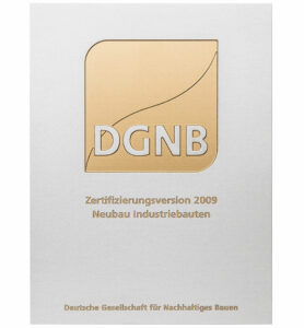 Plakette DGNB Zertifikat