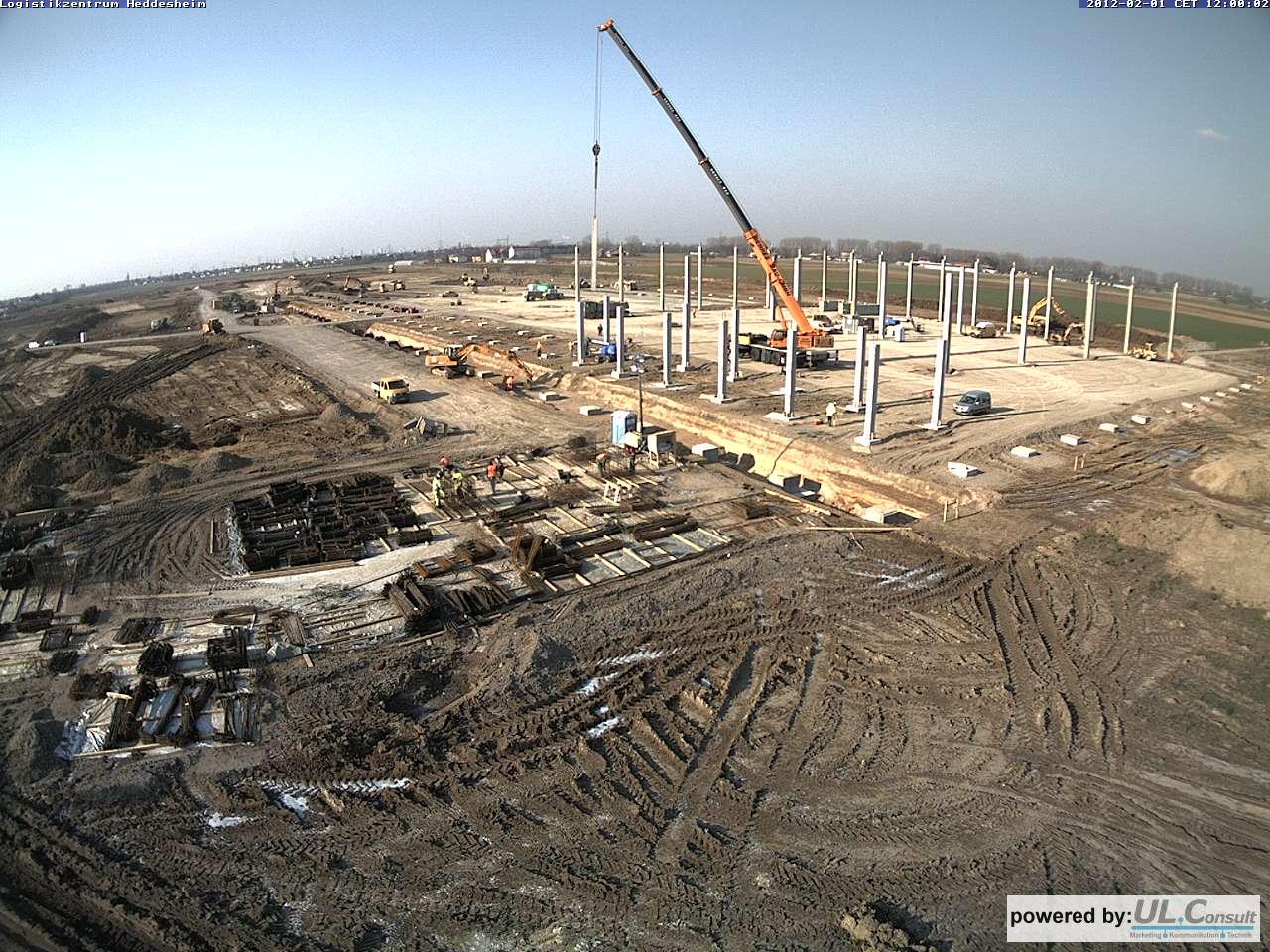 Baustelle Heddesheim Bau einer Halle