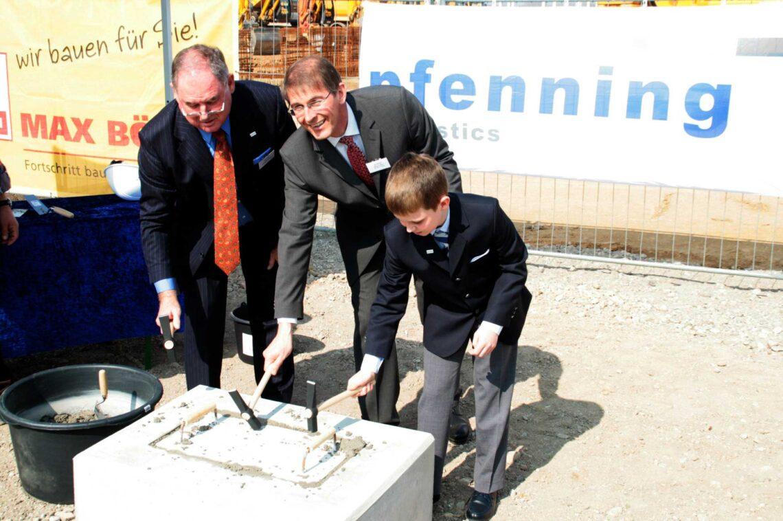 Grundsteinlegung für neues Logistikzentrum Heddesheim