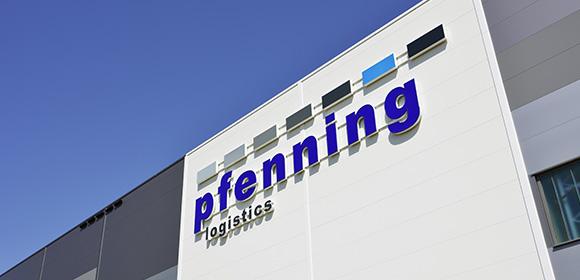 pfenning logistics Schild